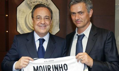 Perez từng trải thảm đỏ đưa Mourinho về Real. Ảnh: Reuters.