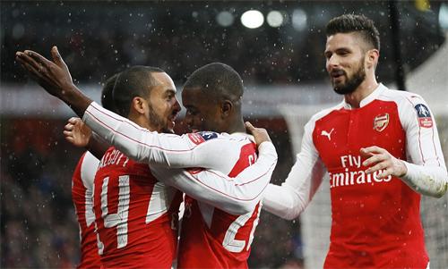 Arsenal khởi đầu thắng lợi ở FA Cup - giải đấu họ hai năm liên tiếp chinh phục thành công gần đây. Ảnh: Reuters.