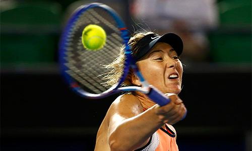 Sharapova vẫn chưa gặp trở ngại đáng kể qua hai vòng đầu Australia Mở rộng năm nay. Ảnh: Reuters.