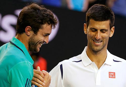 Simon là trở ngại lớn nhất với Djokovic từ đầu Australia Open năm nay. Ảnh: Reuters.