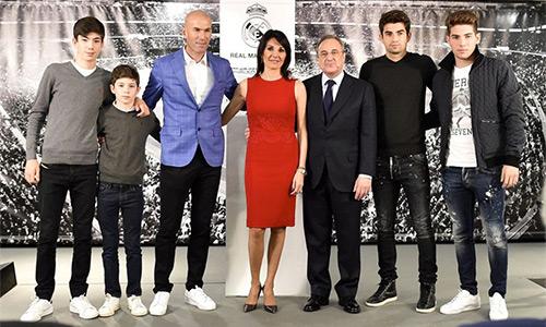 Real Madrid, với Zidane, giống như gia đình. Ảnh: AFP.