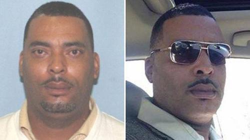 """Bức ảnh Donald """" Chip """" Pugh trên lệnh truy nã (trái) và bức ảnh ông này gửi cho cảnh sát. Ảnh: BBC"""