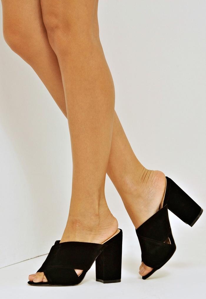 Giày mules cao gót