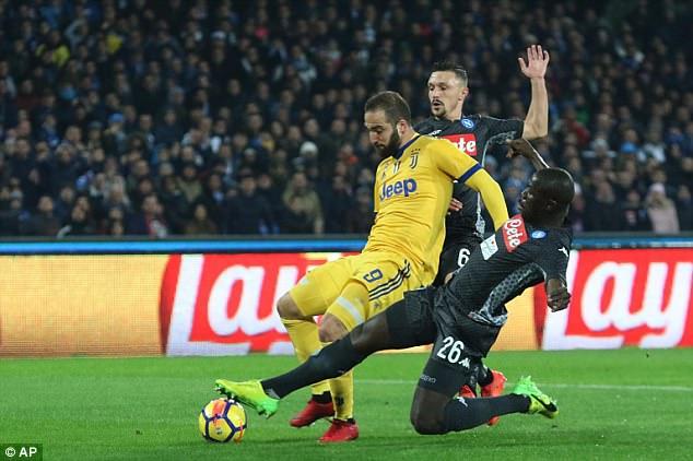 Kết quả bóng đá Napoli 0-1 Juventus